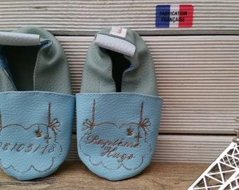 christening baptism soft slippers