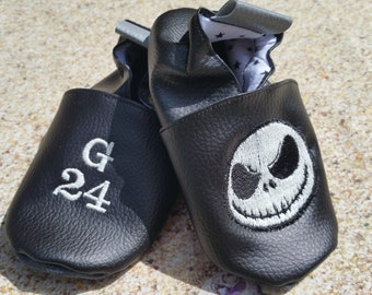Slippers soft leather, leatherette slipper baby, boy, girl, kids slippers, slipper personalized shoe slipper, pumpkin