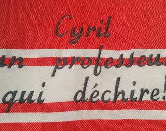 Embroidered Fouta, fouta beach towel, fouta personalized, embroidered, personalized beach towel, master, mistress gift, home