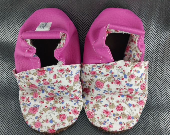 Soft leather slippers, faux leather, baby slipper, boy slipper, girl slipper, child slipper, custom slipper, liberty