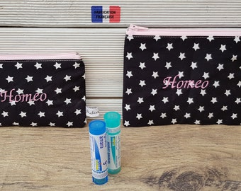 Homeopathic travel kit, homeopathy pouch, anti-waves, compact, travel, customize