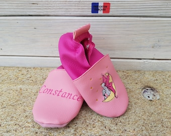 Slippers soft leather, leatherette shoe baby Bootie boy, girl, kids slippers, slippers custom slippers, fairy