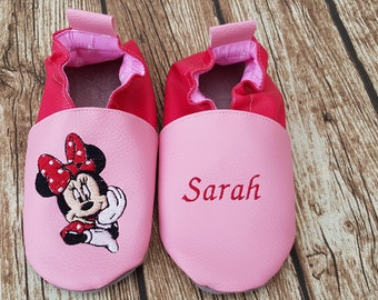 Slippers soft leather, leatherette, customize baby Bootie, Reserverd Cassie