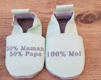 Baby shoes soft leather, leatherette, boy, girl, child slippers custom slippers slipper shoe, baptism