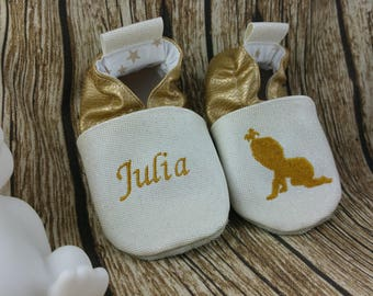 Soft leather slippers, faux leather, baby slipper, boy slipper, girl slipper, child slipper, custom slipper, baby
