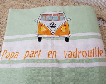 Embroidered Fouta, fouta beach towel, fouta personalized, embroidered beach towel personalized