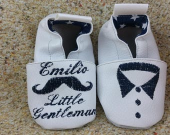 Soft mustache slippers, little gentleman