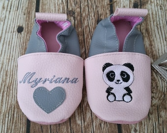panda soft slippers for girls or boys