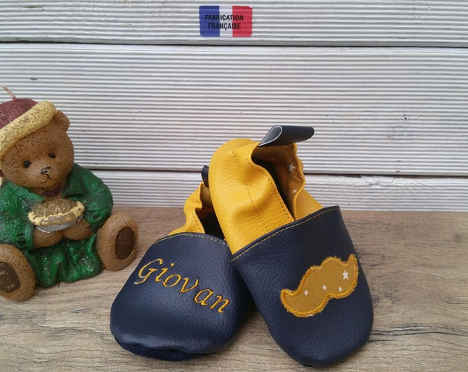 Flexible mustache slippers to customize
