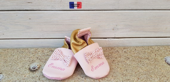 Soft leather slippers, faux leather, baby slipper, girl slipper, child slipper, limited edition