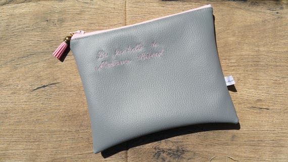 20x15 leather faux clutch, women's clutch, master clutch, mom clutch, handbag clutch, embroidered, custom