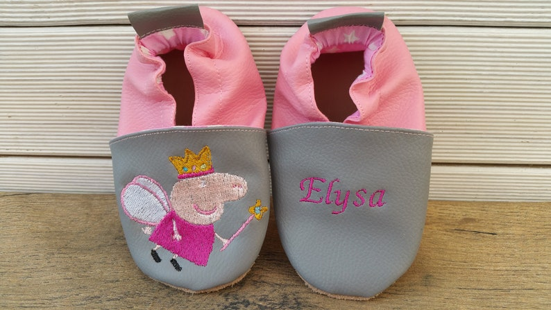 f7785d518e987 Chaussons souples Peppa Pig   Chaussons fille   Chaussons