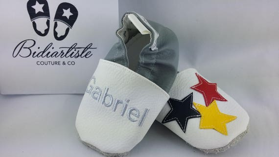 Soft name and colorful star slippers to customize