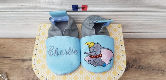 Soft elephant child slippers to customize