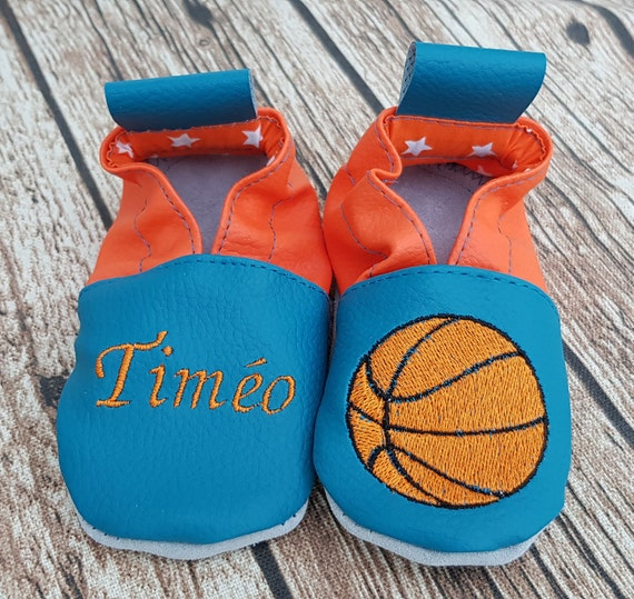 Soft oil blue leather and orange basketball to customize