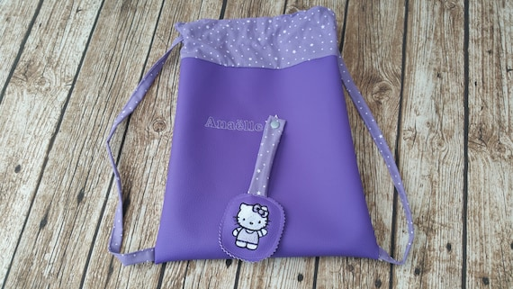 Maternal backpack, child backpack, faux leather, cotton lined, custom child backpack, custom backpack