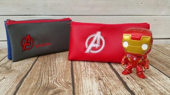 School kit, kit, child kit, faux leather, embroidered kit, round kit, double kit, personalized kit
