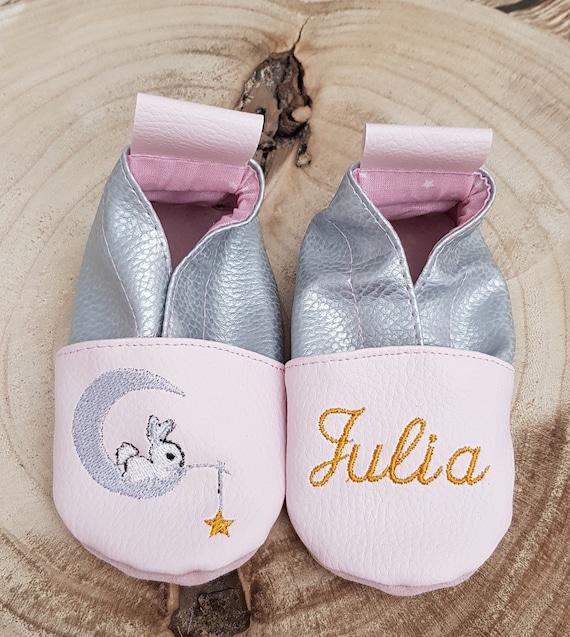Soft leather slippers, baby slipper, girl's slipper, child's slipper, custom slipper, rabbit