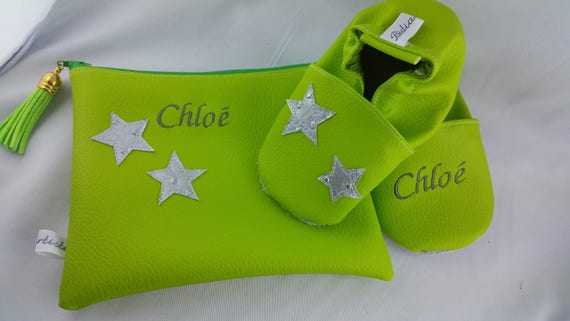 Gift to personalize: shoes and clutch spring green