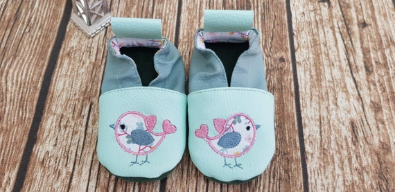 A pair of custom soft slippers / Applied Bird / Limited Edition Flower Cotton