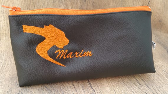 Kit, school kit, children's kit, faux leather, embroidered, personalized