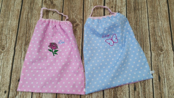 Kit 2 elasticated canteen towels and pouch, embroidered and customized to the application