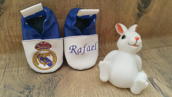 custom leather slippers, real madrid slippers,