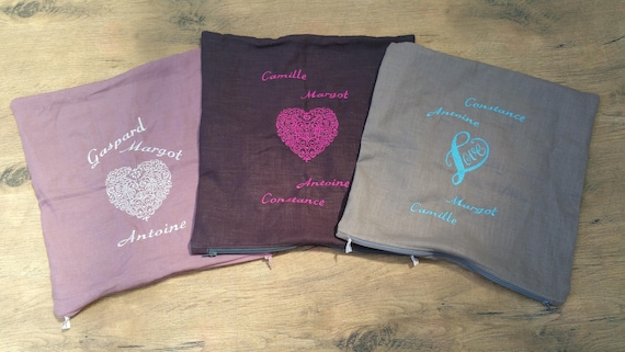 Pillow case, cover cotton cover pillow, decorative cover, cover linen, embroidered, personalized