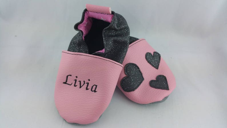 Soft leather slippers faux leather baby slipper boy image 0