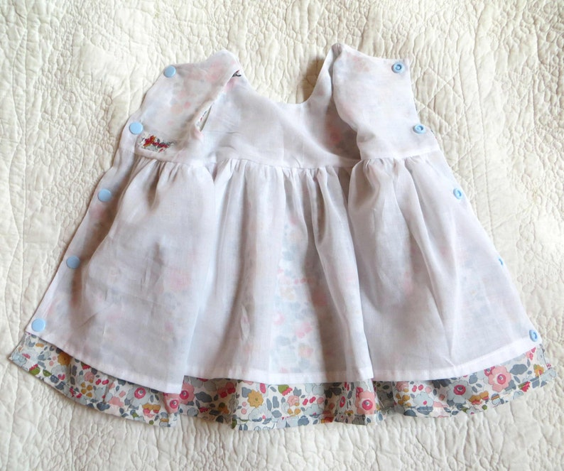 d217d19379ae8 Robe bébé fille pur coton Liberty® betsy porcelaine