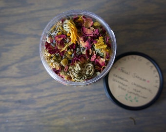 Herbal Facial Steam with Flowers like Calendula and Rose