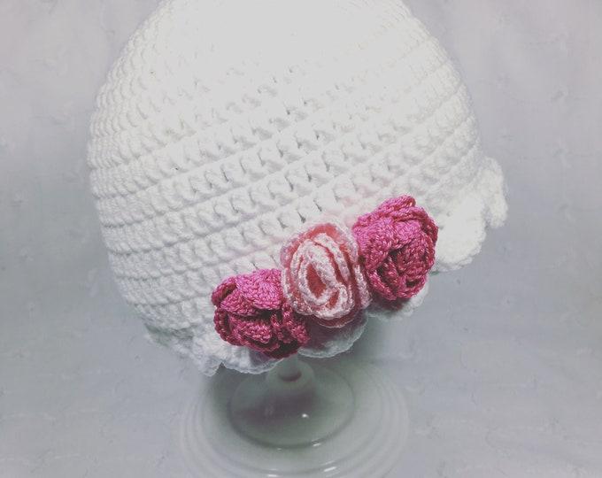 Flowered cloche Hat
