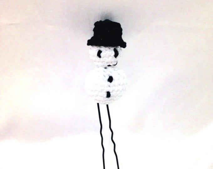 This hair stick / bun, snow man