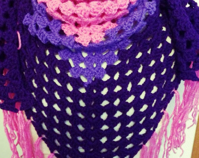Scarf / scarf / shawl crocheted in acrylic