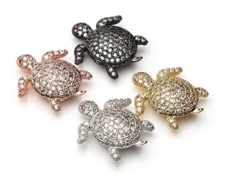 20 Tiny Hatching Turtle beads CB900