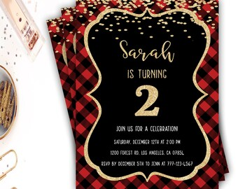 black and red invite etsy