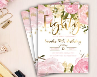 80th birthday invitations etsy quick view 80th birthday for her invitations filmwisefo