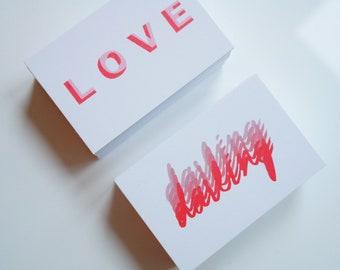 Mini card set - Love/Darling
