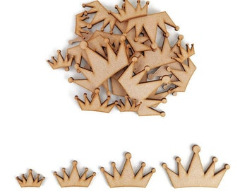 10 Pack Wooden PRINCESS Shape Craft Blank Embellishment PRINCESS