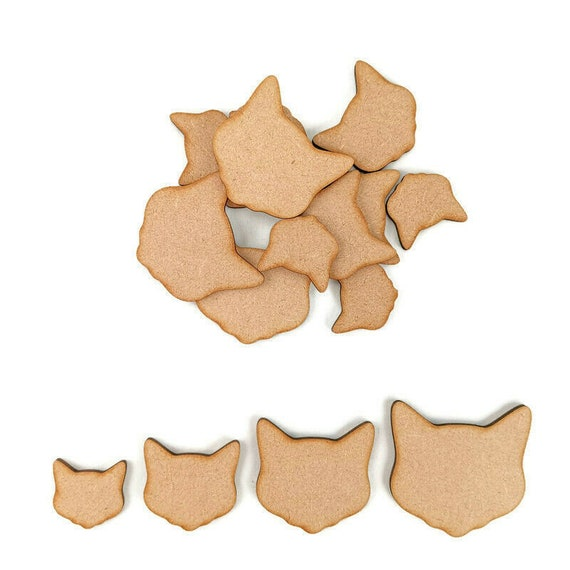 Holes // Wooden MDF Bones Shapes 3mm Thick Tags Embellishments Decoration Craft