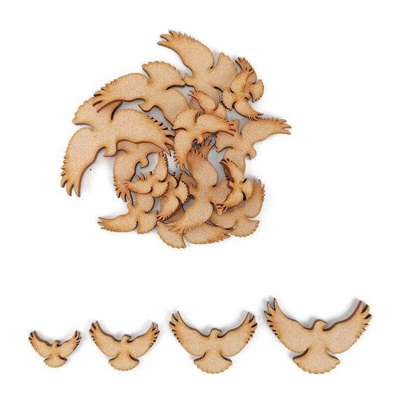 Design 1 MDF Laser Cut Craft Blanks in Various Sizes Bird