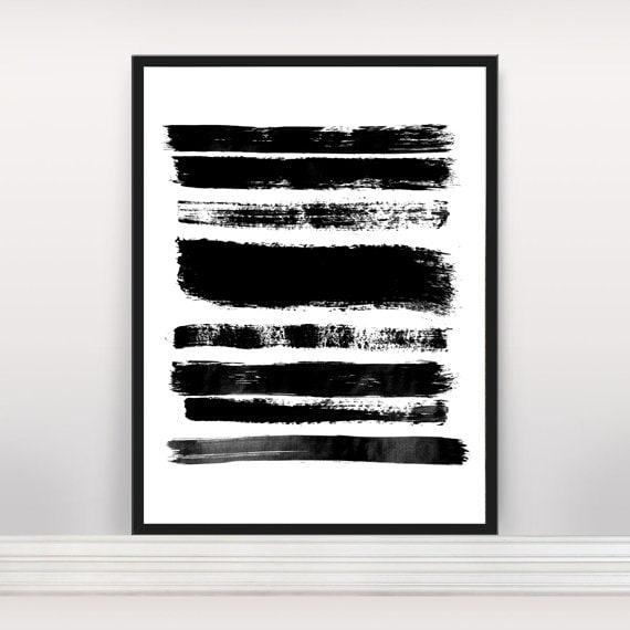 Art Abstrait Minimaliste Impression Estampe Affiche Etsy