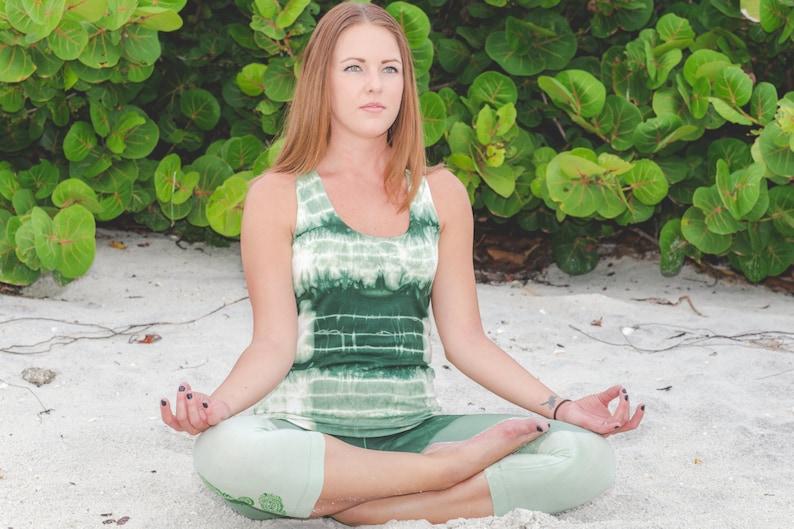 Fitness Gift Organic Workout Tank Top Tie Dye Yoga Top