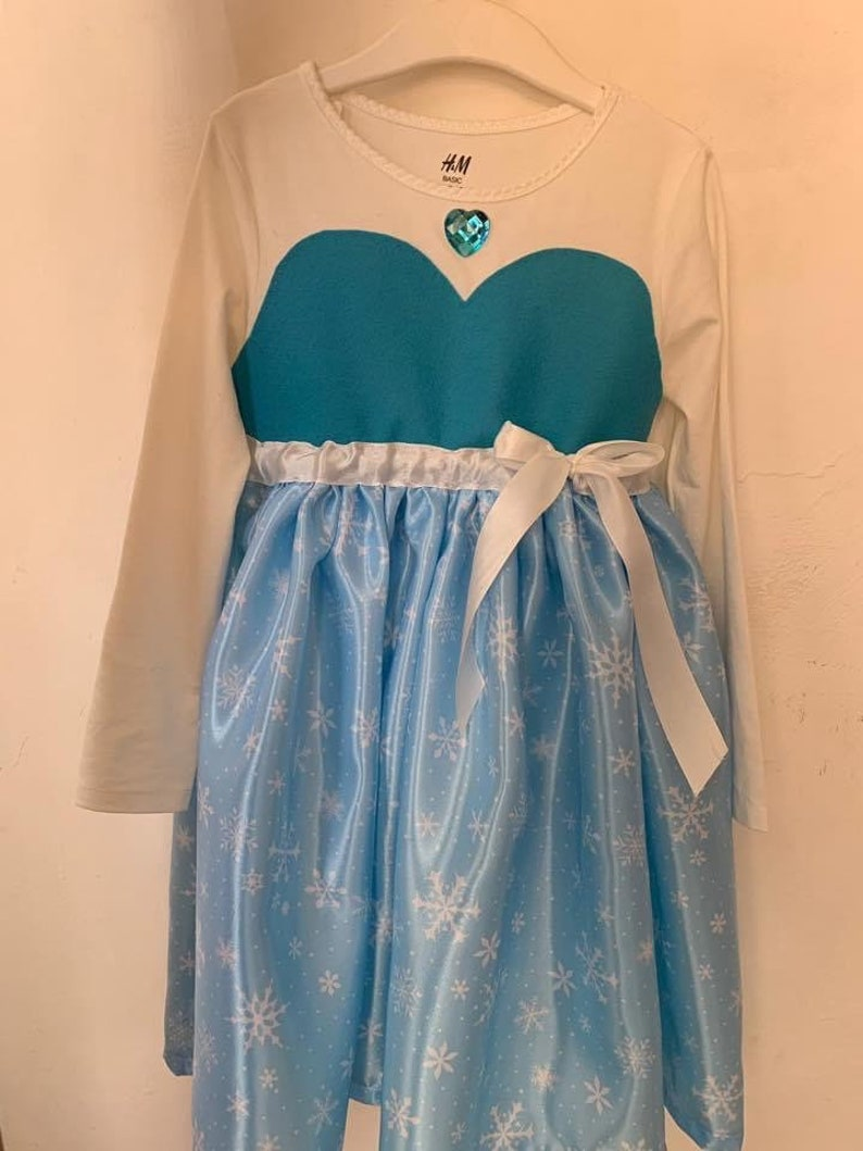 Elsa costume carnival dress