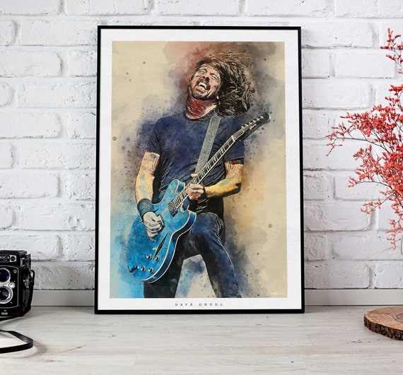 A4 A3 A2 A1 A0| Foo Fighters European Tour Digital Art Poster Print T1105