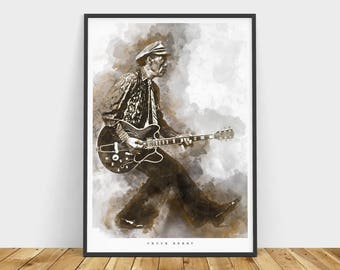 Chuck Berry Art Print and poster
