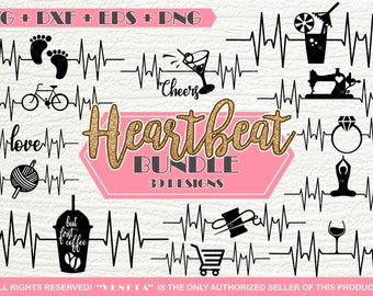 Hearbeat BUNDLE 39 Designs | SVG, DXF, png, eps, Cutting File