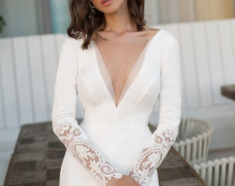 Mermaid wedding dress Alisia, А line wedding dress