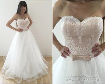 Champagne wedding dress   Etsy