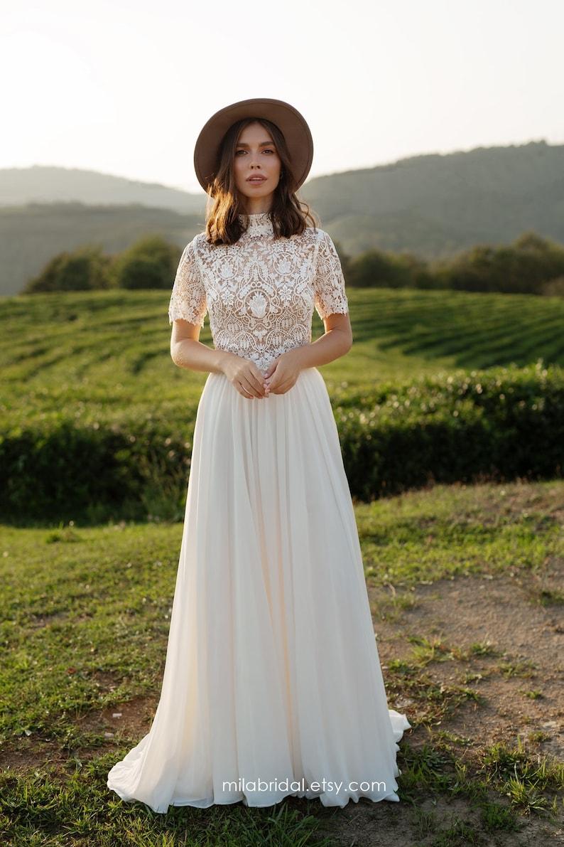 Riki  boho wedding dress  bridal separates  wedding dress image 1